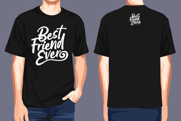 T-shirt vorne und hinten bester freund aller zeiten