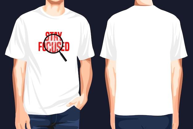 T-shirt vorne und hinten bleiben fokussiert
