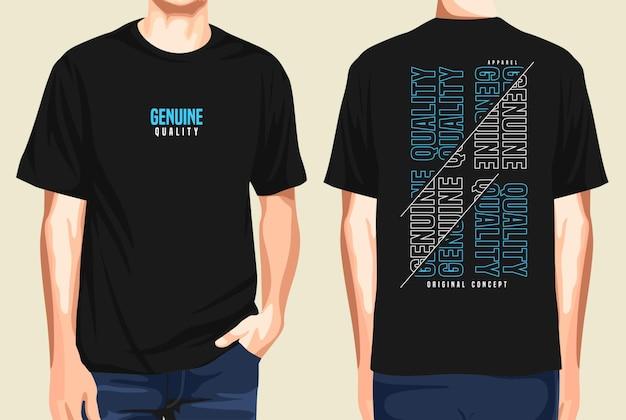 T-shirt vorne und hinten echte qualität