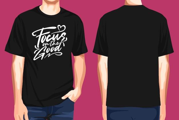 T-shirt vorne und hinten fokus auf das gute