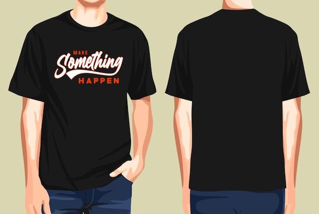 T-shirt vorne und hinten lassen etwas typografie passieren