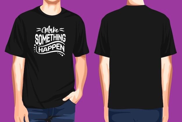 T-shirt vorne und hinten machen was los