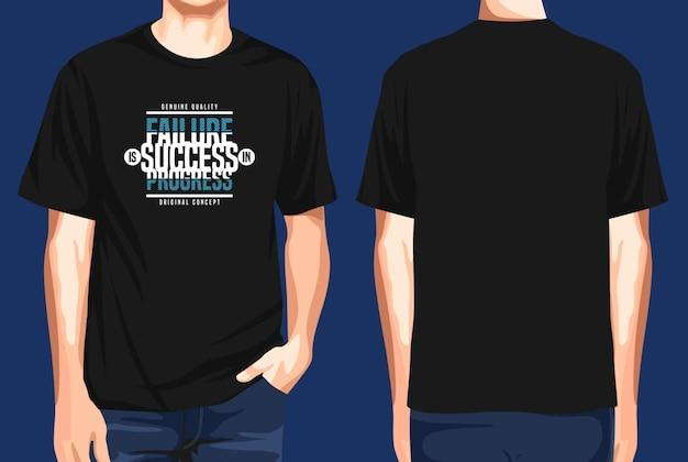 T-shirt vorne und hinten misserfolg erfolgsfortschritt