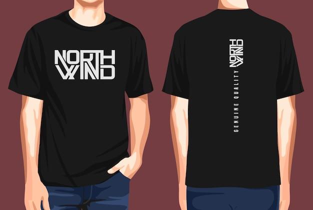 T-shirt vorne und hinten nordwind