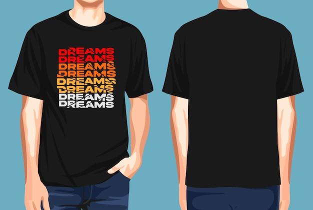 T-shirt vorne und hinten träume