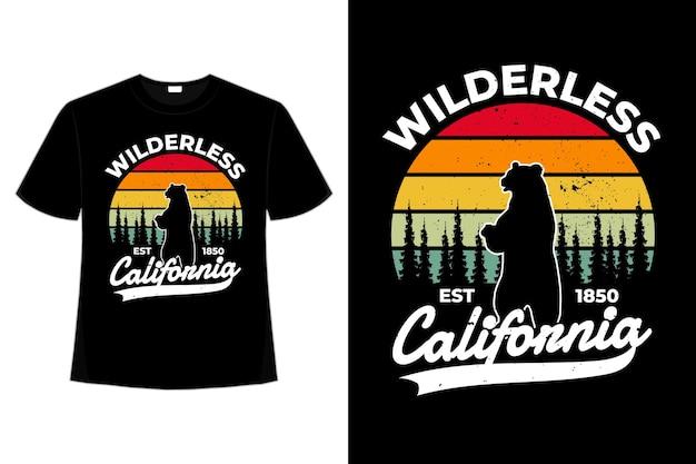 T-shirt wald kalifornien tragen retro vintage
