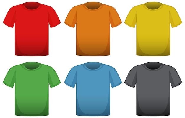 T-shirts in sechs verschiedenen farben