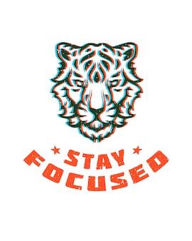 T-stück-druckvektorillustration der typografie grafische.