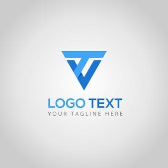 T- und v-logo-vorlage