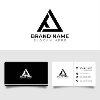 Ta anfangsbuchstaben symbol logo mit visitenkarte design-vorlage