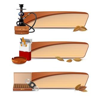 Tabak-banner-set