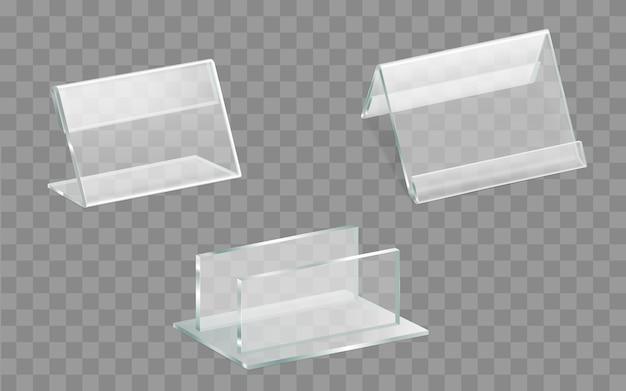 Tabellenanzeige, realistischer vektorsatz des menühalters