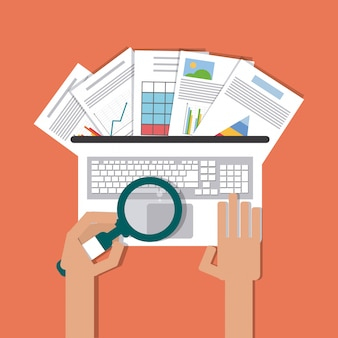 Tabellenkalkulation, technologie und infografik-konzept