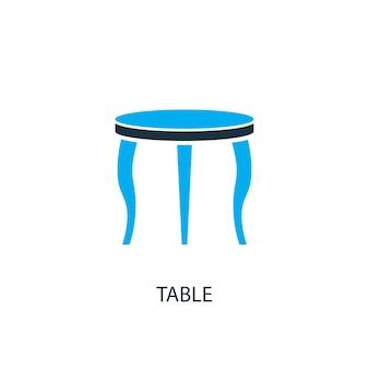 Tabellensymbol. logo-element-abbildung. tischsymbol-design aus 2-farbiger kollektion. einfaches tischkonzept. kann im web und mobil verwendet werden.