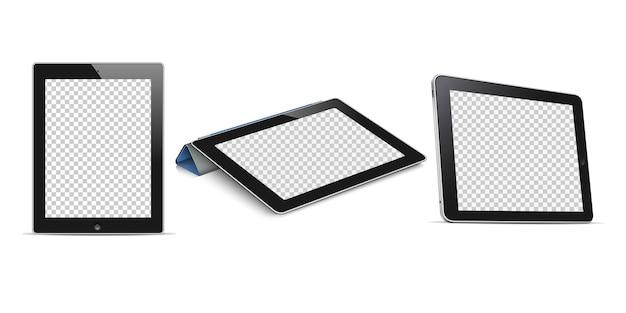 Tablet-computer mit transparentem bildschirm