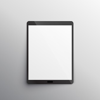Tablet-gerät mockup design-vektor
