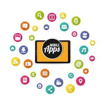Tablet mobile apps design