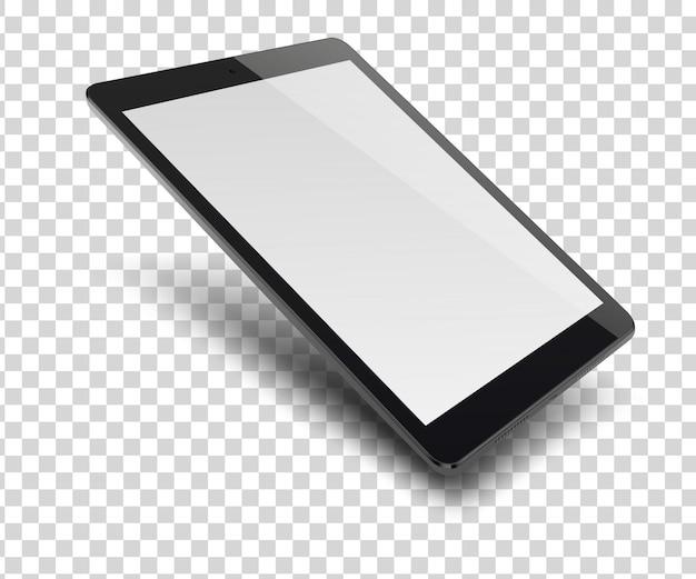 Tablet-pc-computer mit leerem bildschirm an.