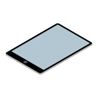 Tablette pc isometrisch getrennt auf weiß