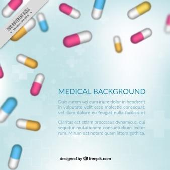 Tabletten medizinischen hintergrund