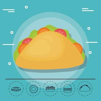 Taco für familiensommerpicknick