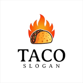 Taco-logo-design-vektor-fast-food-restaurant und café-symbol