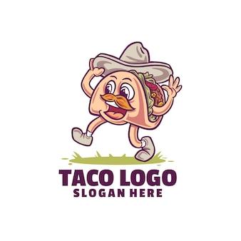 Taco-logo isoliert auf weiß