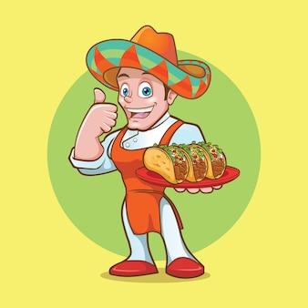 Taco-maskottchen-logo-design