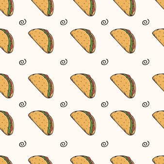 Taco nahtloses muster