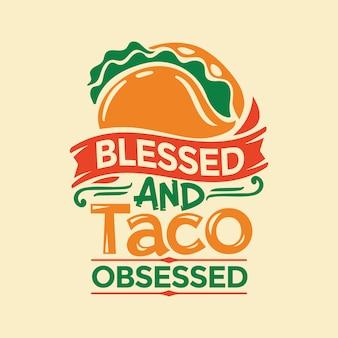 Taco verwandte zitat handschrift illustration