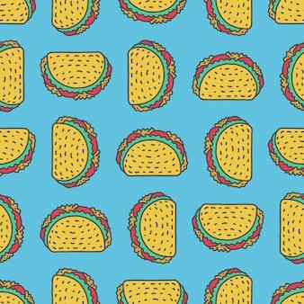 Taco zeichnung hintergrund