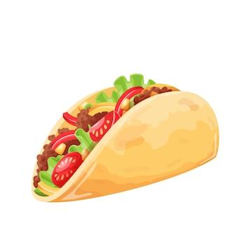 Tacos mit fleisch und gemüse fast food