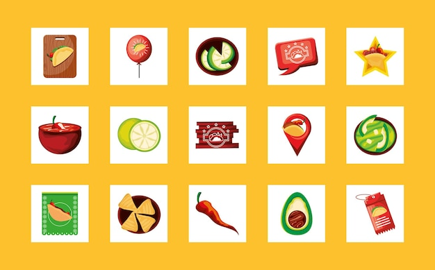 Tacos mit mexikanischem essen