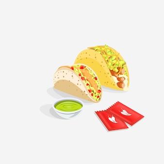 Tacos realistisches essen