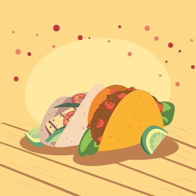 Tacos und zitrone