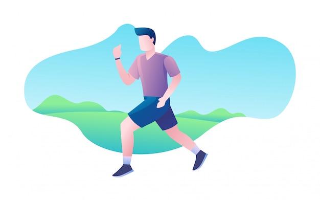 Tägliche bewegung gesunde lebensweise übung