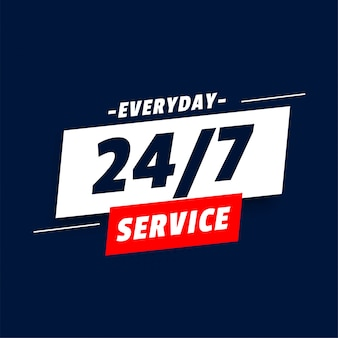 Tägliches 24-stunden-service-banner-design