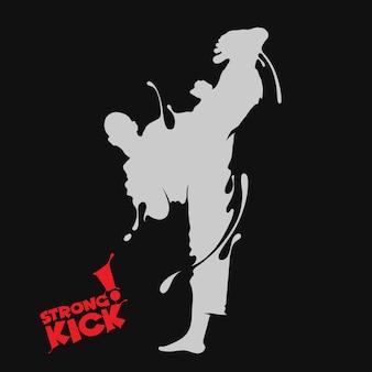 Taekwondo kick splash
