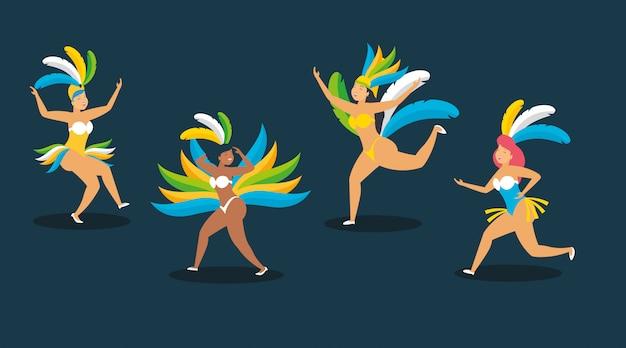 Tänzer brasilien karneval