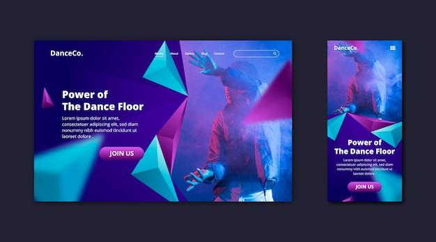 Tänzer-landing-page-vorlage