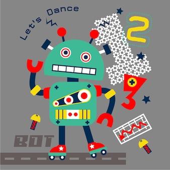 Tänzer roboter auf der straße