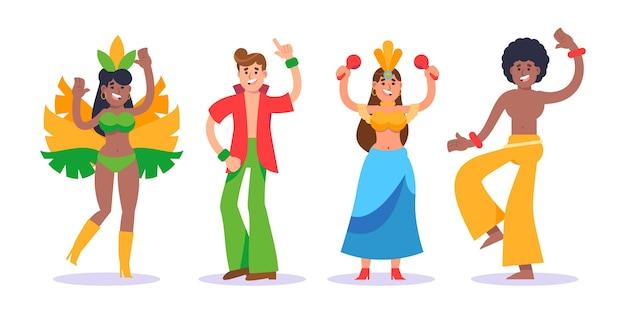 Tänzer setzen brasilianischen karneval