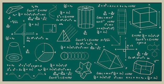Tafel geschrieben mit physik und mathematischen formeln