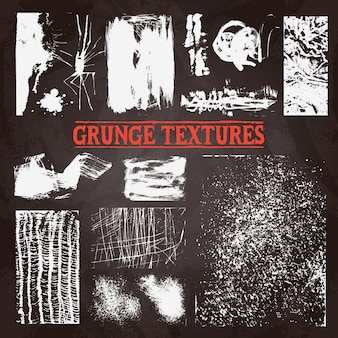 Tafel grunge texturen set