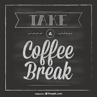 Tafel kaffeepause vektor
