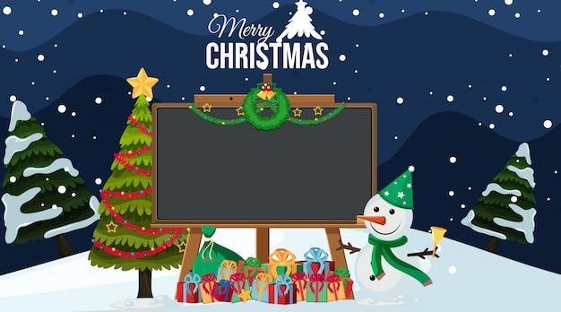 Tafel mit weihnachtsthema