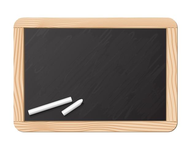 Tafel und kreide, realistische vektorillustration