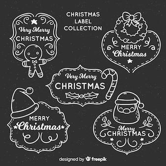 Tafel weihnachts-label-kollektion