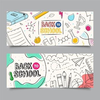 Tafel zurück zur schule banner vorlage