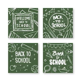 Tafel zurück zur schule instagram post sammlung
